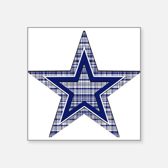 Blue and Silver Plaid Sticker