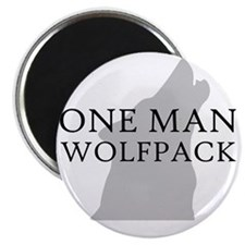 ONE MAN PACK WHITE Magnet