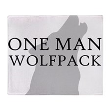 ONE MAN PACK WHITE Throw Blanket