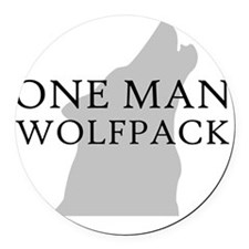 ONE MAN PACK WHITE Round Car Magnet
