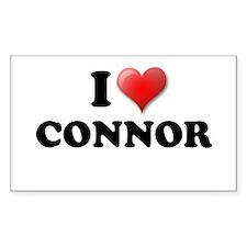 I LOVE CONNOR T-SHIRT CONNOR Sticker (Rectangular