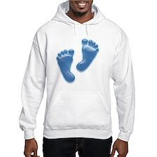 Baby Feet in Blue Hoodie
