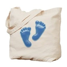 Baby Feet in Blue Tote Bag