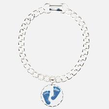 Baby Feet in Blue Bracelet