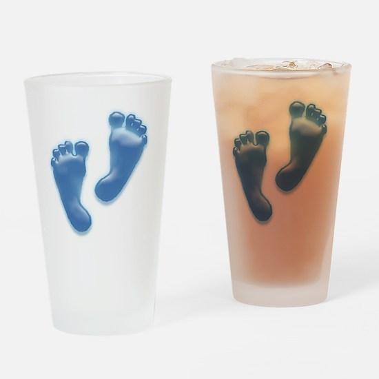 Baby Feet in Blue Drinking Glass