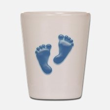 Baby Feet in Blue Shot Glass