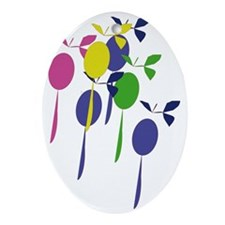Baloons1 Oval Ornament