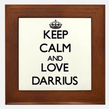 Keep Calm and Love Darrius Framed Tile