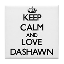 Keep Calm and Love Dashawn Tile Coaster