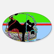 Yarn Kitty magnet- Decal