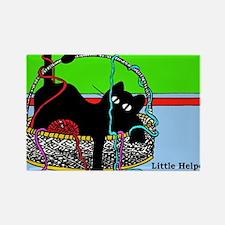 Yarn Kitty magnet- Rectangle Magnet
