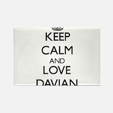 Keep Calm and Love Davian Magnets