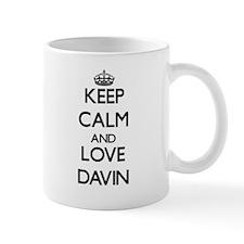Keep Calm and Love Davin Mugs