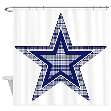 Blue And Silver Plaid Shower Curtain By Gezipsupport