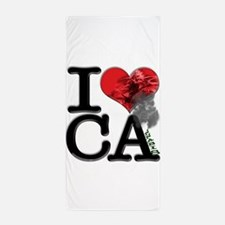I Love CAnnabis Beach Towel
