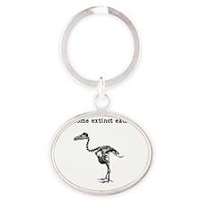 extinct Oval Keychain