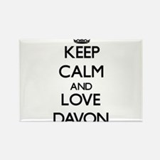 Keep Calm and Love Davon Magnets