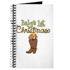 1st Christmas Cowboy Boot Journal