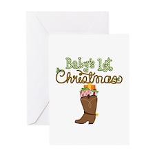 1st Christmas Cowboy Boot Greeting Card