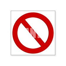 """no-pants-day-WonB Square Sticker 3"""" x 3"""""""
