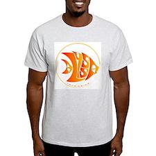 Alyssa orange fish Ash Grey T-Shirt