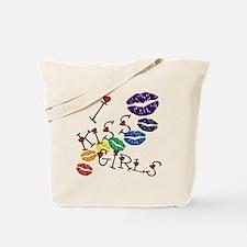 I Kiss Girls Tote Bag