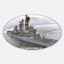 coontz ddg note card Sticker (Oval)