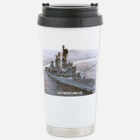 coontz ddg small poster Stainless Steel Travel Mug