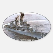 coontz ddg small poster Sticker (Oval)