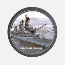 coontz ddg small poster Wall Clock