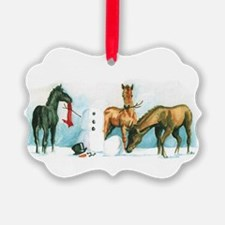 Snow Foals 2008 Ornament