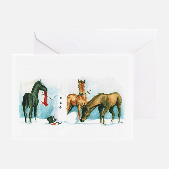 Snow Foals 2008 Greeting Card