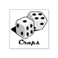 "Craps Square Sticker 3"" x 3"""