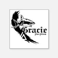 "graciefinal2-2BLK Square Sticker 3"" x 3"""