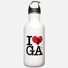 I Love GAnja Water Bottle