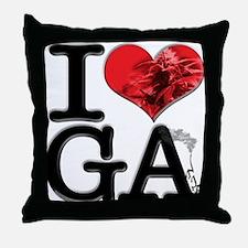 I Love GAnja Throw Pillow