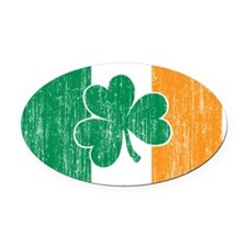 Irish Flag Oval Car Magnet