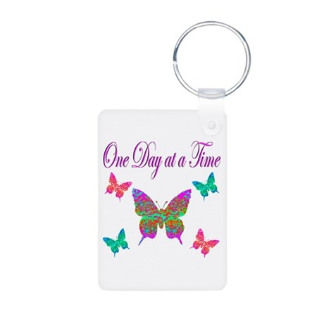 ONE DAY AT A TIME Aluminum Photo Keychain