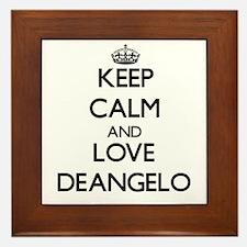 Keep Calm and Love Deangelo Framed Tile