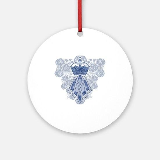 MAmonogramINKCP Round Ornament