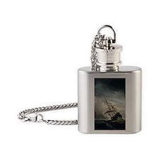de_windstoot_jour Flask Necklace
