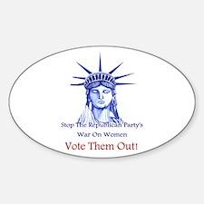 Stop Republicans War On Women Decal