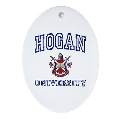 HOGAN University Oval Ornament