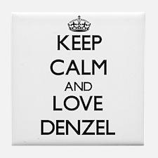 Keep Calm and Love Denzel Tile Coaster