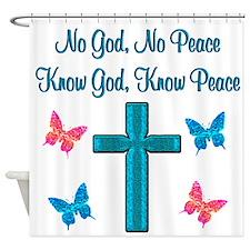 KNOW GOD Shower Curtain