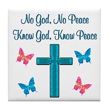 KNOW GOD Tile Coaster