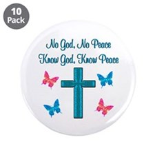 """KNOW GOD 3.5"""" Button (10 pack)"""