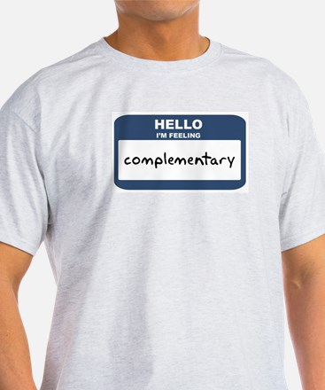 Feeling complementary Ash Grey T-Shirt