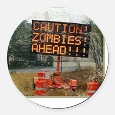 zombie_ahead Round Car Magnet