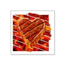 "Steak Lover Square Sticker 3"" x 3"""